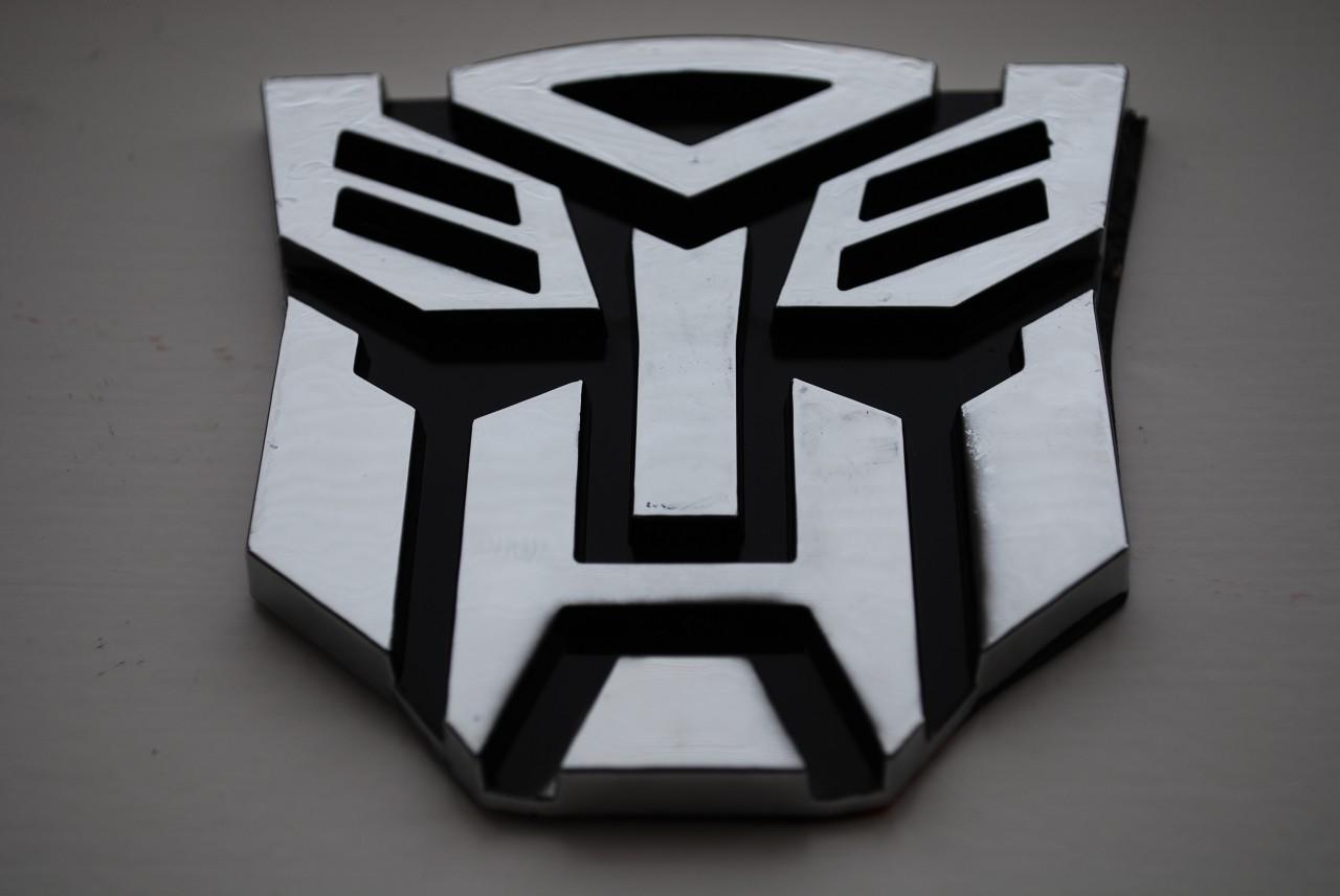 Transformers Autobot Decepticon Car Chrome Badge Emblem